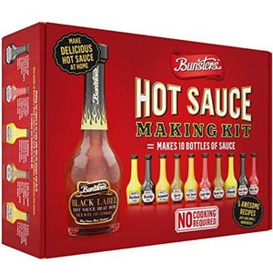 BUNSTERS Hot Sauce Making Kit | Just pour and shake (No cooking) - His Perfect Gifts