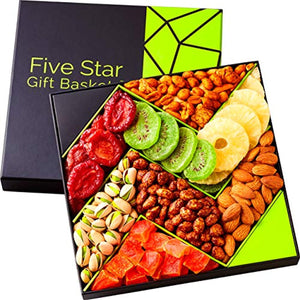 Five Star Gift Baskets Holiday Fruit and Nuts Gift Basket Gourmet - His Perfect Gifts
