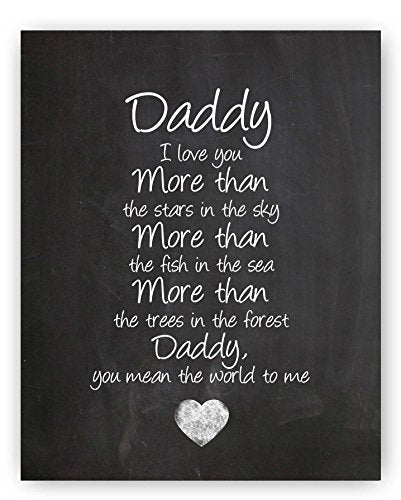 Daddy quote sign - His Perfect Gifts