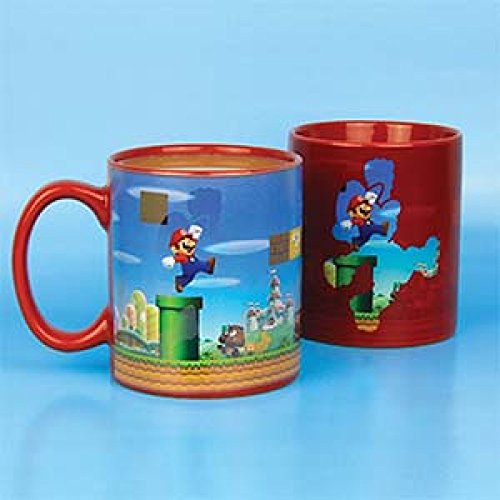 Paladone Super Mario Brothers Heat Changing Ceramic Coffee Mug - His Perfect Gifts