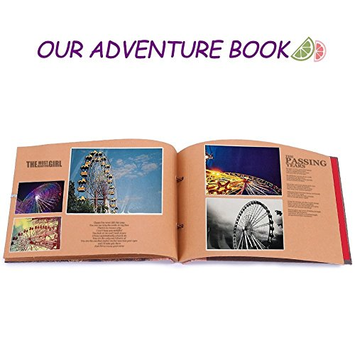 Our Adventure Book Pixar Up Handmade DIY Family Scrapbook, Romantic Gift for Valentine Surprise, Wedding Photo Album, Retro Album, Anniversary Scrapbook with Luxury Gift Box - His Perfect Gifts