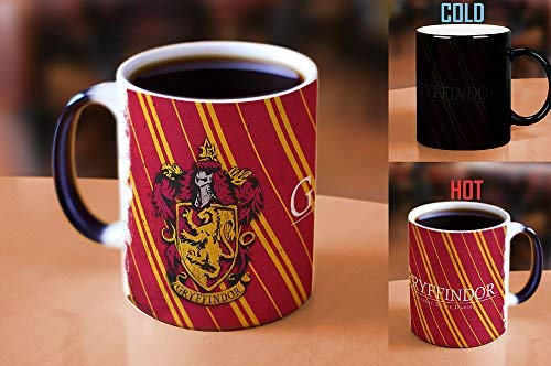 Morphing Mugs Harry Potter Hogwarts House Colors (Gryffindor) Heat Reveal Ceramic Coffee Mug - 11 Ounces - His Perfect Gifts