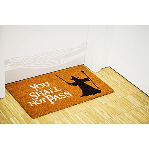 getDigital Doormat You shall not pass | Carpet Entrance Rug Front Door Welcome Mat | Made from natural coco coir fibres | Perfect for Lord of the Rings lovers | 23.7 by 15.7 by 1-inch - His Perfect Gifts