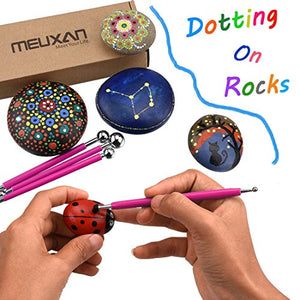 Meuxan 13 Piece Ball Stylus Dotting Tools for Rock Painting, Clay Pottery Modeling Design - His Perfect Gifts
