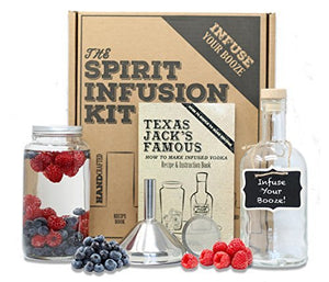 The SPIRIT INFUSION KIT - Infuse Your Booze! 70+ Homemade Flavored Vodka Recipes. Become an Infused Alcohol Cocktail Mixologist using the 110pg Recipe and Instruction Book. Great Gift & Party Hit! - His Perfect Gifts