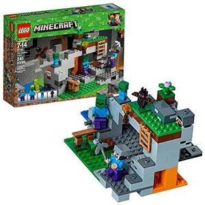 LEGO Minecraft The Zombie Cave 21141 Building Kit with Popular Minecraft Characters Steve and Zombie Figure, separate TNT Toy, Coal and more for Creative Play (241 Pieces) - His Perfect Gifts