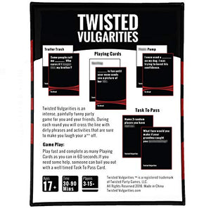 Twisted Vulgarities - A Dark, Dirty, Painfully Funny Party Card Game - His Perfect Gifts