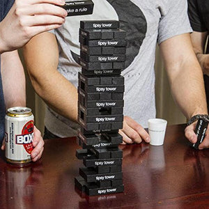 Tipsy Tower Drinking Game - 54 Blocks, over 35 Different Rules and Games - The Ultimate Adult Party Game - His Perfect Gifts