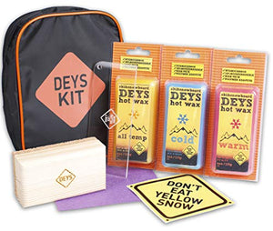 Snowboard / Ski Universal Wax Tune Kit from DEYS. Wax (4 pc: All Temp, Cold, Warm, Graphite), Plexi Scraper, Cork Bar, and more. Gift Ready Combo Pack - His Perfect Gifts