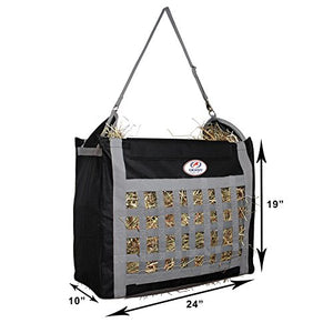Top Load Hay Bag With Slow Feed Opening By Derby Originals (Black/Grey) - His Perfect Gifts