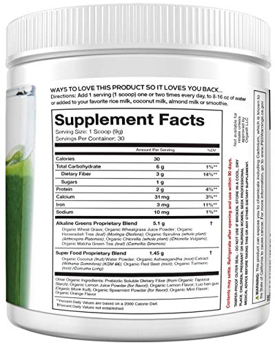 Organifi: Green Juice - Organic Superfood Supplement Powder - 30 Day Supply - USDA Certified Organic Vegan Greens- Hydrates and Revitalizes - Boost Immune System - Support Relaxation and Sleep - His Perfect Gifts