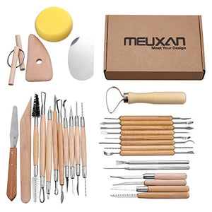 Meuxan 30PCS Pottery Tools Clay Sculpting Tool Set - His Perfect Gifts