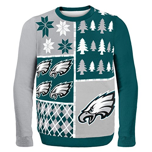 Philadelphia Eagles Busy Block Ugly Sweater Extra Large - His Perfect Gifts