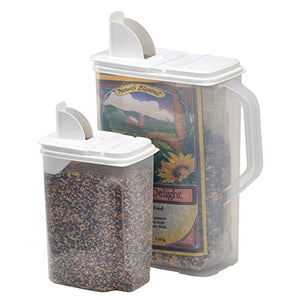 Buddeez 8 And 4-Quart Double-Pack Bird Seed Dispensing Set - His Perfect Gifts