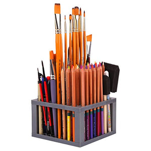Transon Pen Paint Brush Holder Desk Stand Organizer 96 Slots for Pencils, Paint Brushes, Markers - His Perfect Gifts