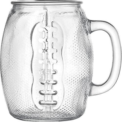Oktoberfest 37 Oz Football Glass Fun Jumbo Beer Mug (1) - His Perfect Gifts