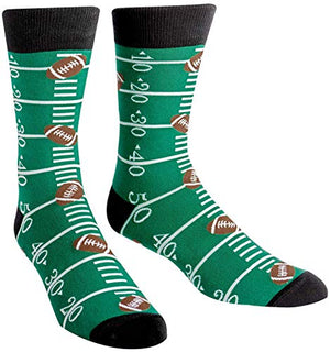 Sock It To Me Men's Football Crew Socks Touchdown,Multicolored,7-13 - His Perfect Gifts