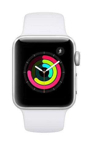 Apple Watch Series 3 - Silver Aluminium Case with White Sport Band - His Perfect Gifts