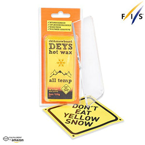 Snowboard / Ski Wax from DEYS (ALLTEMP) - Free Plexi Scraper. Gift Ready Combo - His Perfect Gifts