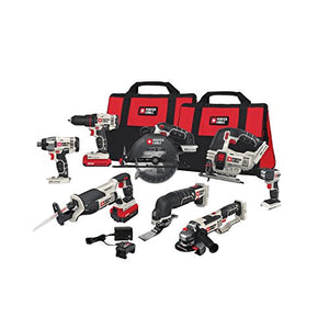 PORTER-CABLE PCCK619L8 20V MAX Lithium Ion 8-Tool Combo Kit - His Perfect Gifts