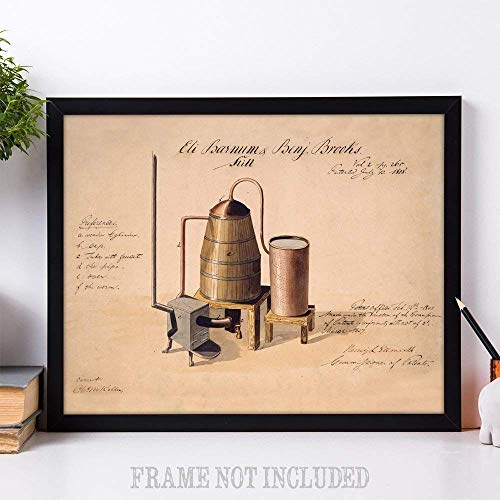 1808 Whiskey Still - 11x14 Unframed Patent Print - Great Gift for Whiskey Drinkers - His Perfect Gifts