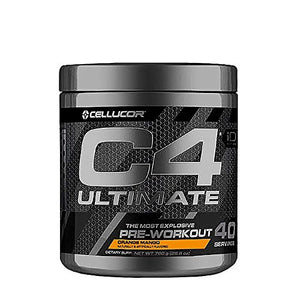 Cellucor C4 Ultimate Pre Workout Powder with Beta Alanine, Creatine Nitrate, Nitric Oxide, Citrulline Malate, and Energy Drink Mix, Orange Mango, 40 Servings - His Perfect Gifts