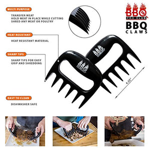BBQ Gloves, Meat Claws and Digital Instant Read BBQ Thermometer (3 pc Set) - Heat Resistant/Silicone Gloves - BBQ Grilling Tool Accessories Make The - His Perfect Gifts
