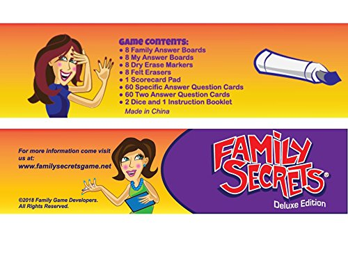 Family Secrets - The Perfect Cross-Generational Family Game. Opens Up Uninhibited Dialogue Between Kids / Teens & Adults / Parents. Deluxe Edition. - His Perfect Gifts