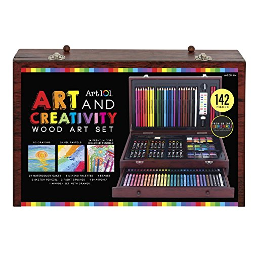 Art 101 142-Piece Wood Art Set - His Perfect Gifts