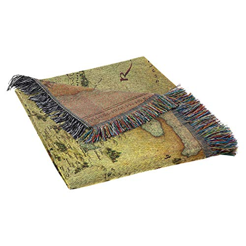 "Warner Brothers The Hobbit, Middle Earth Woven Tapestry Throw Blanket, 48"" x 60"" - His Perfect Gifts"