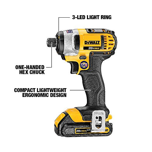 DEWALT DCK240C2 20v Lithium Drill Driver/Impact Combo Kit (1.3Ah) - His Perfect Gifts