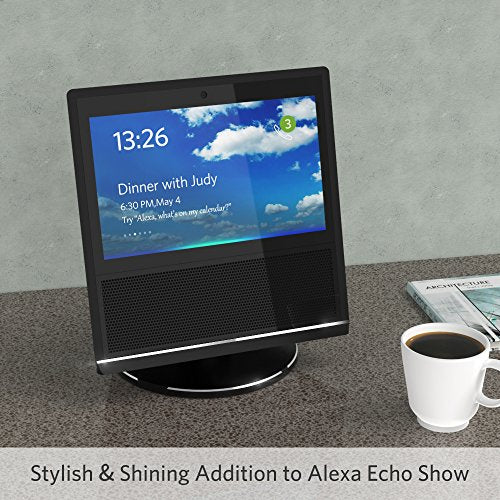 Stand for Echo Show 1th Gen, YoFeW Full Aluminum Stand Mount for Amazon Echo Show 1th Generation 360 Rotatable Metal Base Protector Accessories for Amazon Show with Precision Bearings - His Perfect Gifts