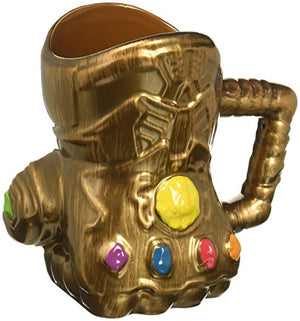 Marvel Infinity Wars Gauntlet Shaped Ceramic Soup Coffee Mug Cup, 20 Ounce - His Perfect Gifts