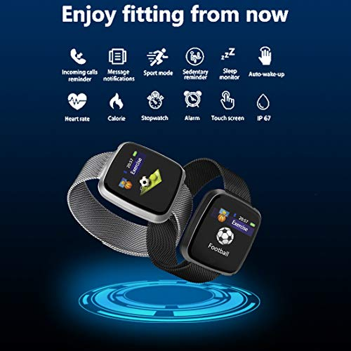 Smart Watches for Android Phones,Touchscreen Sport Smart Wrist Watch Smartwatch Fitness Tracker Pedometer Sleep Monitor Call/Message Reminder Fitness Tracker for Men Women (Black) - His Perfect Gifts