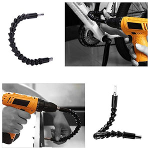 Yosoo Flexible Extention Screwdriver Drill Bit Holder with Magnetic Quick Connect Drive Shaft Tip - His Perfect Gifts