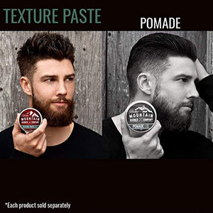 Hair Paste for Men – Hair Styling Cream with Pliable Light-Firm Hold for All Hair Styles, Shine-Free Matte Finish with Natural Plant Derived Ingredients – Easy to Wash Out - 2 OZ - His Perfect Gifts