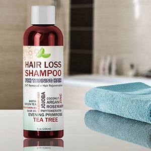 Best Hair Loss Shampoo Potent Hair Loss Fighting Formula 100% Natural Topical Regrowth Treatment Restores Hair Stops Hair Shedding Contains Biotin Rosemary Coconut Oil For Women and Men - His Perfect Gifts