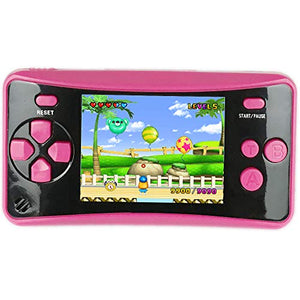 HigoKids Handheld Game Console for Kids Portable Retro Video Game Player Built-in 182 Classic Games 2.5 inches LCD Screen Family Recreation Arcade Gaming System Birthday Present for Children-Rose Red - His Perfect Gifts