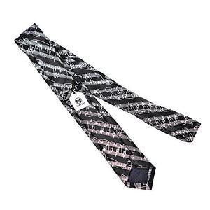 Skinny Neckties Novelty Ties Music Staff Black - His Perfect Gifts