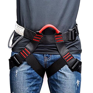 Weanas Thicken Climbing Harness, Protect Waist Safety Harness, Wider Half Body Harness for Mountaineering/Fire Rescuing/Rock Climbing/Rappelling / Tree Climbing - His Perfect Gifts