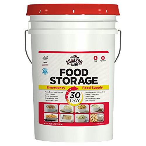 Augason Farms 30-Day Emergency Food Storage Supply 29 lb 4.37 oz 8.5 Gallon Pail - His Perfect Gifts