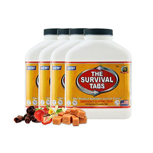 Survival Tabs 60-Day 720 Tabs Emergency Food Ration Survival MREs Food Replacement for Outdoor Activities Disaster Preparedness Gluten Free and Non-GMO 25 Years Shelf Life Long Term - Mixed Flavor - His Perfect Gifts