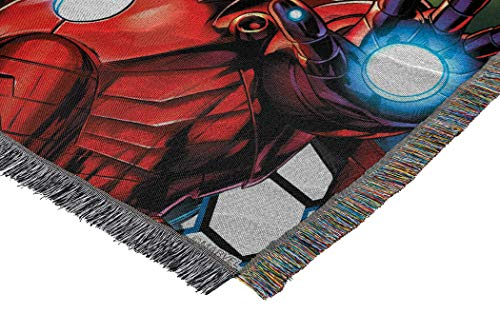 "Marvel's Avengers, ""Best Team"" Woven Tapestry Throw Blanket, 48"" x 60"", Multi Color - His Perfect Gifts"