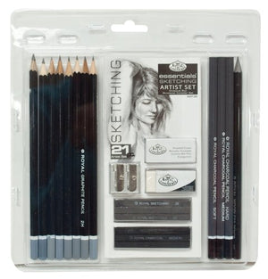 Royal & Langnickel RART-200 Essentials Sketching Pencil Set, 21-Piece - His Perfect Gifts