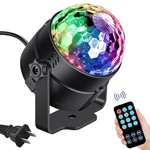Vnina Disco Ball Party Lights LED Disco Lights Strobe Light DJ Dance lights Effects with Colors Sound Activated for Kids Birthday Party Decoration Gifts Karaoke Home Celebration (with Remote) - His Perfect Gifts