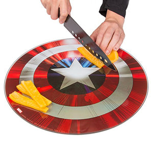 Marvel Avengers Captain America Shield Cutting Board - Non Slip Feet - His Perfect Gifts