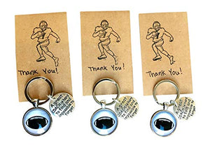 Pack of 3 Football Coach Appreciation Keychain with Gift Packaging for Your Coach - His Perfect Gifts