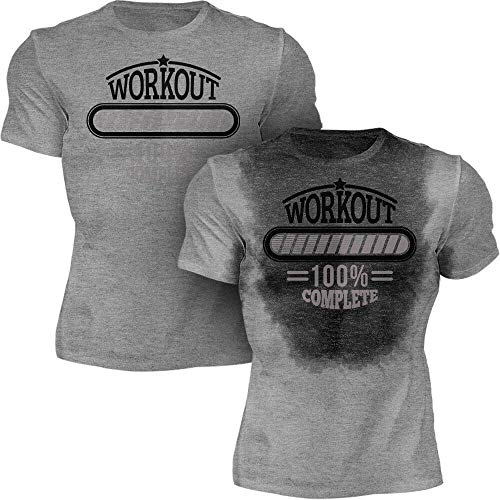 Sweat Activated Men Shirt | Stylish Motivating Fitness Tee | Workout Complete - His Perfect Gifts