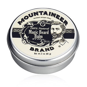 Magic Beard Balm Leave-in Conditioner by Mountaineer Band | Natural Oils, Shea Butter, Beeswax Nourishing Ingredients | 2-oz Citrus & Spice Scent - His Perfect Gifts