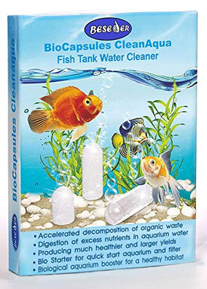 Beseder Biological Booster Aquarium Fish Tank Cleaner. Makes Water Healthier, Reduces nitrites & Ammonia for Happy Fish & far Less Cleaning. Fish Tank Supplies for Fish Tank Filter, Glass Cleaning - His Perfect Gifts